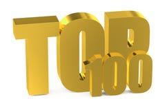 κορυφή 100 Στοκ Φωτογραφία