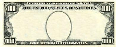 100 долларов рамки Стоковые Изображения