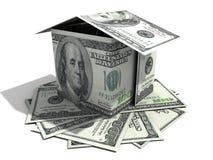 дом 100 доллара Стоковые Фото