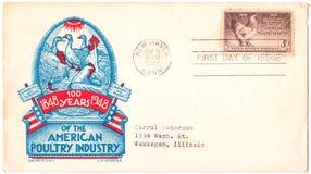 100. amerikanska årsdagindustrihöna Arkivbild