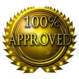 100% aprovado Imagens de Stock