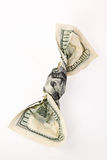 $100 arrugados Bill Imágenes de archivo libres de regalías