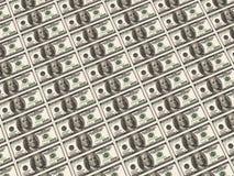 100 banconote del dollaro Fotografie Stock Libere da Diritti