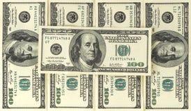 $100 bankbiljettenachtergrond Royalty-vrije Stock Afbeelding
