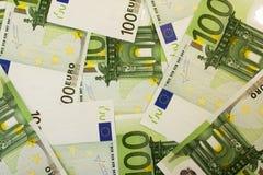 100 banknotów euro Obraz Royalty Free