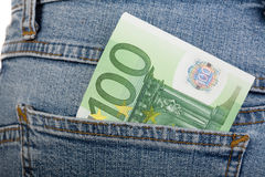 100 banknotów euro Zdjęcie Stock