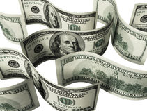 $100 banknotes background Royalty Free Stock Photo