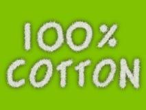 100% Baumwolle Stockbild