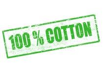 100 bawełna znaczek Zdjęcia Royalty Free