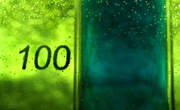 100 beker Royalty-vrije Stock Afbeelding