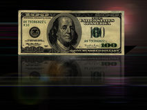 $100 bill background. Artistic $100 bill background Royalty Free Illustration