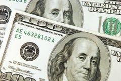 100 billet d'un dollar Images libres de droits