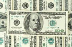 $100 billetes de banco Foto de archivo libre de regalías