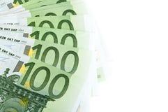 100 billetes de banco euro Foto de archivo libre de regalías