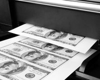 100 billets d'un dollar Photos libres de droits