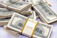 $100 billets d'un dollar Photos libres de droits