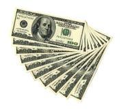 $100 billets de banque Image libre de droits