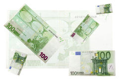 100 billets de banque euro Image libre de droits