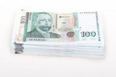 100 billets de banque se ferment vers le haut Photographie stock