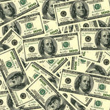 $100 bills background. Ot's of $100 banknotes. Can be used as a background for your projects Stock Image