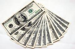 100 billsdollar Arkivbild