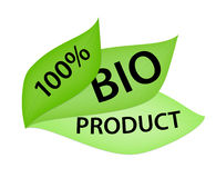100% Bio Product Label. Green label with 100% Bio Product tag Stock Illustration