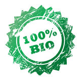 100% Bio stamp. Icon stamp to certify organic products Stock Photos
