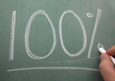100 blackboard pisać Zdjęcia Royalty Free