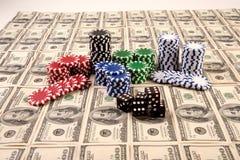 100 cem contas de dólar Foto de Stock