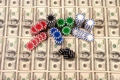 100 cem contas de dólar Imagem de Stock