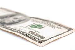 $100, cents billets d'un dollar Photos stock