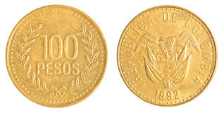 100 Chilean Pesos coin Royalty Free Stock Photos
