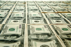 100 cientos cuentas de dólar Imagen de archivo libre de regalías