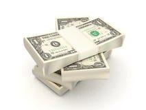 100 contas de dólar Ilustração do Vetor