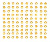 100 crystal orange icons Stock Image