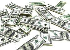 100 cuentas de dólar Imágenes de archivo libres de regalías