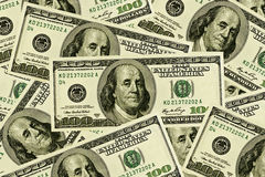 100 cuentas de dólar Fotografía de archivo libre de regalías