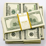 $100 cuentas de dólar Imagenes de archivo