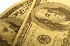 100 cuentas de dólar Foto de archivo libre de regalías
