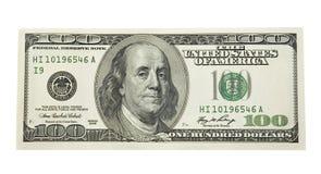 100 dólares Imagens de Stock Royalty Free