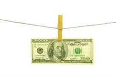 100 dólares Fotografía de archivo libre de regalías