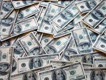 100 dólares de billetes de banco Fotos de archivo libres de regalías