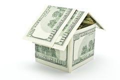 100 dólares de casa do dinheiro Imagens de Stock