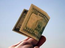 100 dólares de conta Fotografia de Stock Royalty Free