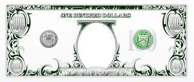 100 dólares de cuenta Dinero de la historieta Fotografía de archivo libre de regalías