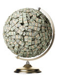 100 dólares de globo no fundo isolado branco Fotografia de Stock