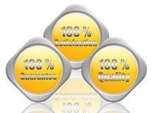 %100 de dienst stock illustratie