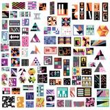 100 de eigentijdse Ontwerpen van de Kunst royalty-vrije illustratie