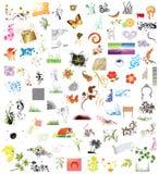 100 de elementen van het ontwerp Stock Foto's