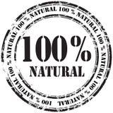 %100 de natuurlijke achtergrond van de grunge rubberzegel Stock Fotografie